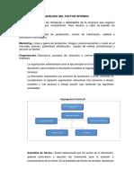 Análisis Del Factor Interno y Externo