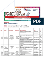 PROGRAMA Provisorio 1º Congreso de Ciencia Política UNVM