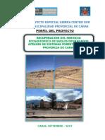 Pip Recuperacion Del Servicio Ecosistemico de Suelos Degradados