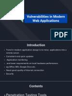 Vulnerabilities in Modern Web Applications