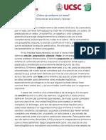 Cómo Se Conforma Un Texto. Estructuras Oracional y Textual.