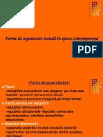 Forme de Organizare Statala in Lumea Contemporana
