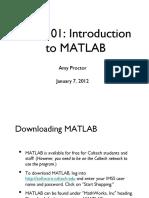 Mat Lab Tutorial