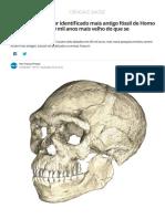 Cientistas Dizem Ter Identificado Mais Antigo Fóssil de Homo Sapiens, e Ele é 100 Mil Anos Mais Velho Do Que Se Acreditava _ Ciência e Saúde _ G1
