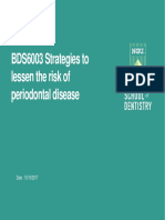 Strategies to Lessen the Risk of Periodontal Disease
