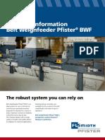 Technical Data Pfister BWF 0417
