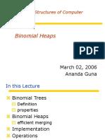 Lecture 14 Binomial Heaps