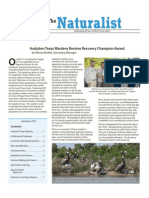 July-August 2010 Naturalist Newsletter Houston Audubon Society