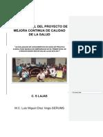 Informe Final Del Proyecto de Mejora Continua de Calidad de La Salud