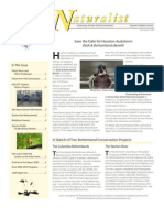 July-August 2009 Naturalist Newsletter Houston Audubon Society