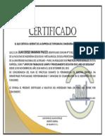CERTIFICADO CALMOR