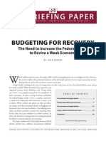 Budgeting for Recovery
