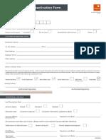 Dormant Account Re Activation Form
