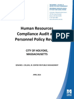 Collins Center Human Resources Compliance Audit and Personnel Policy Review1