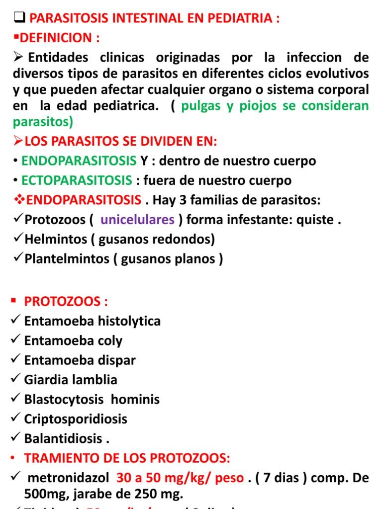 gusanos parásitos def