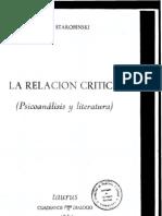 La relación crítica (IIa), Jean Starobinski
