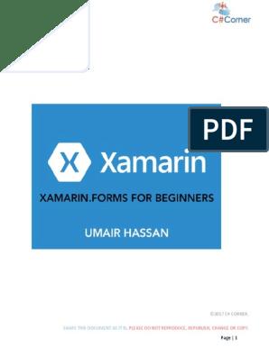 Xamarin Forms Tutorial Visual Studio 2017 Pdf İlk Xamarin