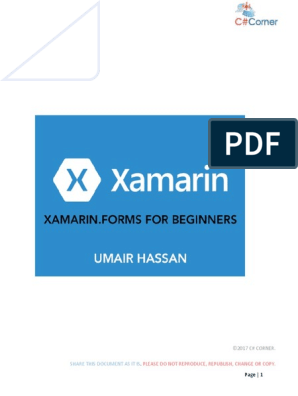 Xamarin Forms for Beginners | Xamarin | Microsoft Visual Studio