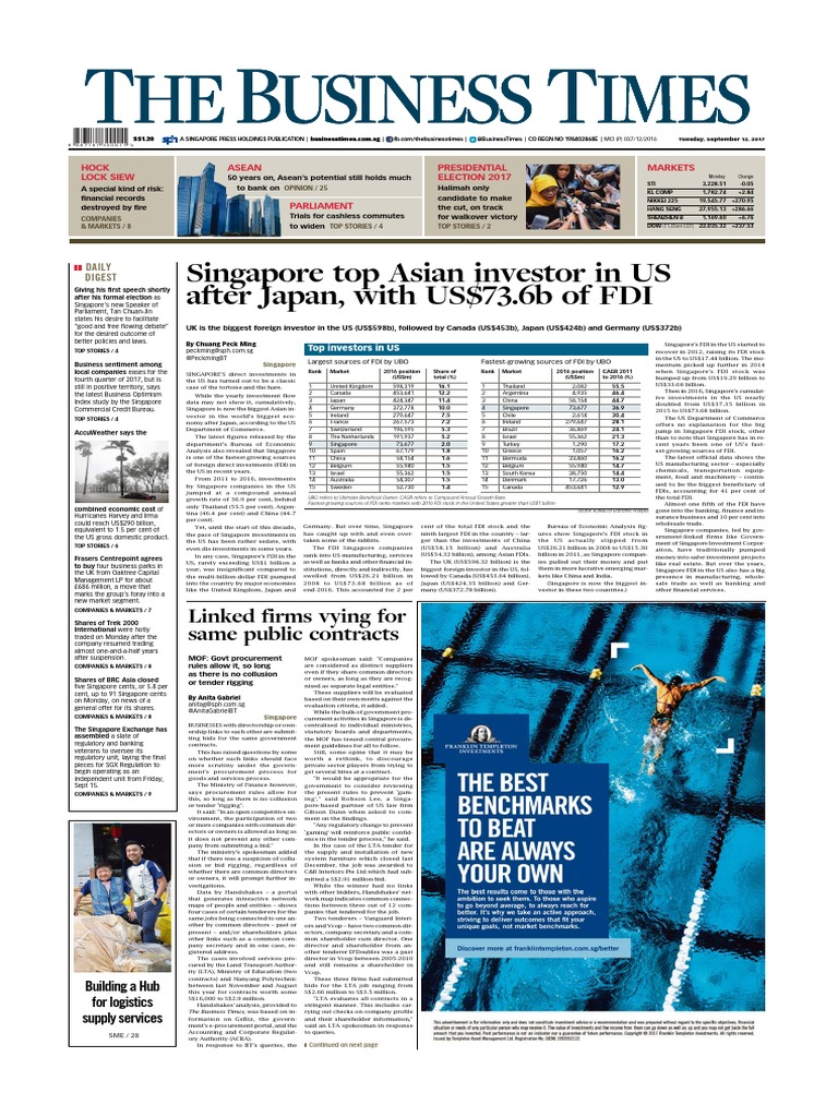 the business times september 12 2017 foreign direct investment