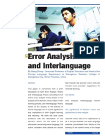 Error Analysis and Interlanguage
