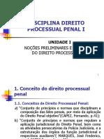 Unidade i - Nocoes Preliminares e Principios Do Direito Processual Penal