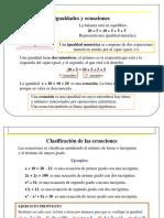 Ecuaciones 1c2ba y 2c2ba Grado Clase 4