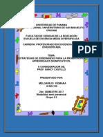 ESTRATEGIAS DE ENSEÑANZAS PARA LA PROMOCIÓN DE APRENDIZAJES SIGNIFICATIVOS.