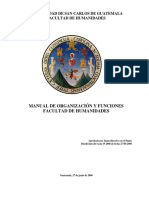 Manual de Organización Humanidades