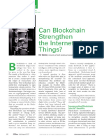 Can Blockchain Strenthen IoT