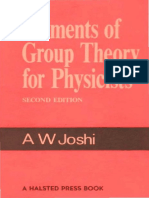 Joshi, A.W. Elements of Group Theory for Physici