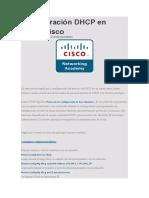 Configuración DHCP en Router Cisco