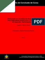 TCC Augusto E. Souza Elaboração de Um Plano de Área Degradada (PRAD) Para o Antigo Lixão Do Itacorubi, Florianópolis (SC)