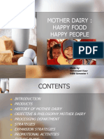 Mother Dairy Industrial Visit