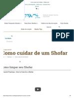 Como Cuidar de Um Shofar - Shofars