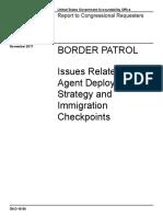 GAO Report on Border Patrol Hiring Shortages