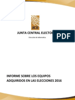 Informe técnico de la JCE