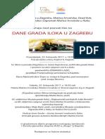 Dani Grada Iloka u Zagrebu, Pozivnica