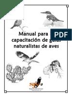 Manual Para La Capacitación de Guías Naturalistas de Aves