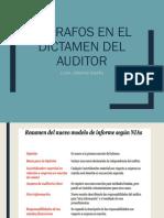 2 Párrafos en El Dictamen Del Auditor y Aspectos Clave de Auditoría