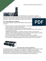 Modular Seal Kit for Pneumatic Cylinders