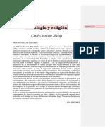 JUNG, Carl Gustav, Psicologia y Religión