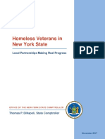 NY State Comptroller's Report on Homeless Veretans - Nov. 2017