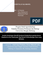 Analisis Kandungan Klorofil Gandasuli (Hedychium Gardnerianum Shephard-1