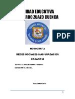 Redes Sociales Mas Usadas en Caranavi