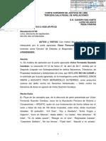 RESOLUCIÓN DE LA CORTE SUPERIOR DE LIMA A FAVOR DE VICTOR GUZMAN CONDEZO
