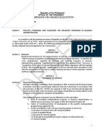 Draft Policies Standards and Guidelines for Graduate Programs in Business Administration 2016