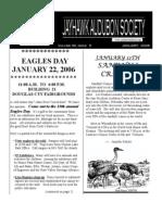 January 2006 Jayhawk Audubon Society Newsletter