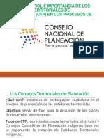 Los Consejos Territoriales de Planeación