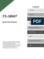 Manual Onkyo TX-SR607
