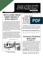 December 2006 Jayhawk Audubon Society Newsletter